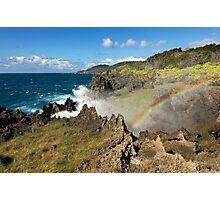 """""""Rainbows and Cliffs"""" Photographic Print"""