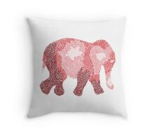 Red Spiral Elephant Throw Pillow