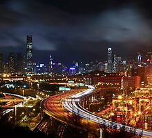 Kwai Chung a Clear Night by HKart
