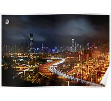 Kwai Chung a Clear Night Poster