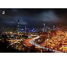 Kwai Chung a Clear Night Photographic Print