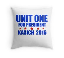 Unit One for President Kasich 2016 Throw Pillow