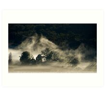 Persistent Mist, King Valley Art Print