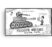 Words of War Canvas Print