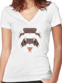 Fierce Ferret Women's Fitted V-Neck T-Shirt
