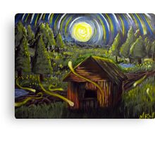 The Barn in Firefly Field Canvas Print