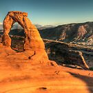 Delicate Arch - Sunset by Ted Lansing