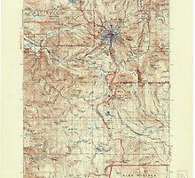 USGS Topo Map Oregon Mount Hood 283229 1927 125000 by wetdryvac