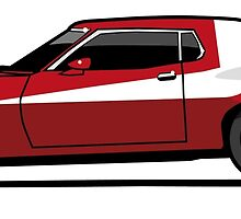 Red Seventies Undercover Cop Car by Tom Mayer