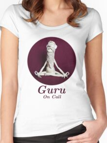 Guru On Call - Sculpture In Masking Tape Women's Fitted Scoop T-Shirt