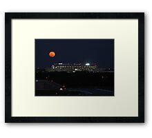 Perigee over Raymond James Stadium Framed Print