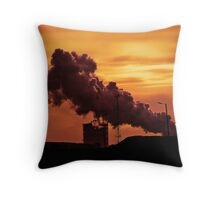 Quenching the Coke, Corus Steelworks, Port Talbot. Throw Pillow