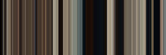 Moviebarcode: True Grit (2010) [Simplified Colors] by moviebarcode