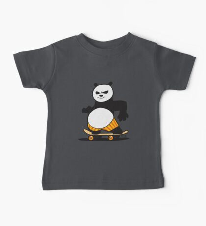 Skate Fu Panda Baby Tee