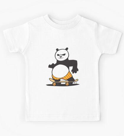 Skate Fu Panda Kids Tee