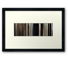 Moviebarcode: True Grit (2010) Framed Print