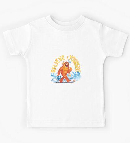 """Believe in Yourself!"" -Sasquatch Kids Tee"