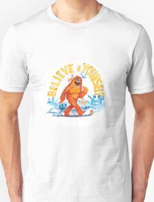 """Believe in Yourself!"" -Sasquatch Unisex T-Shirt"