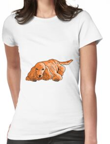poodle3 Womens Fitted T-Shirt
