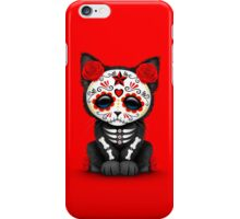 Cute Red Day of the Dead Kitten Cat iPhone Case/Skin