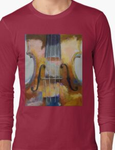 Violin Painting Long Sleeve T-Shirt