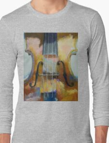 Violin Painting Long Sleeve T-Shirt