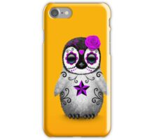 Purple Day of the Dead Sugar Skull Penguin  iPhone Case/Skin