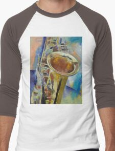 Saxophone Men's Baseball ¾ T-Shirt