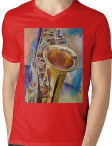 Saxophone Mens V-Neck T-Shirt