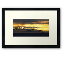 The Lone Ship Framed Print