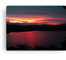 Sunset at Pongola, South Africa Canvas Print