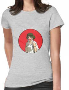 San in Japanese Flag Womens Fitted T-Shirt