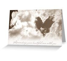 Remembering A Son Greeting Card