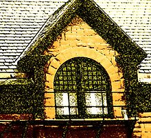 The Old Depot Windows by Lenore Senior