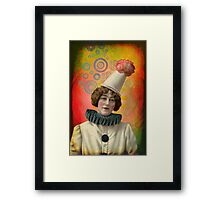 Bright Lights and Curtains Up Framed Print