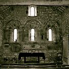 The Altar, Ireby Old Church. by Lou Wilson