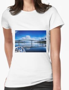 Tromso Blue Womens Fitted T-Shirt