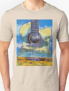 Guitar and Clouds Unisex T-Shirt