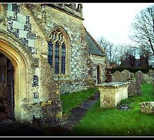 Avebury Church - 11th Century by Audrey Krüger