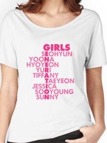 Simple GIRLS' GENERATION Typography Women's Relaxed Fit T-Shirt