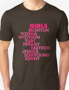 Simple GIRLS' GENERATION Typography Unisex T-Shirt