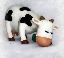 Little cow - children's illustration by CharliSL