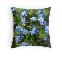 Forget Me Not. Throw Pillow