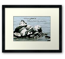 Peace on Your First Father's Day (multiple loss) Framed Print