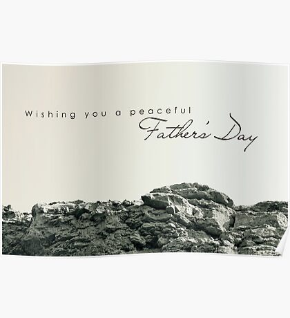 Peaceful Father's Day Poster
