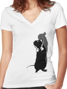 Cool Rat Women's Fitted V-Neck T-Shirt