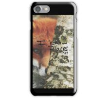 Taylor Swift- I Know Places Fox iPhone Case/Skin