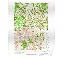USGS Topo Map Oregon Monument 282731 1951 62500 Poster