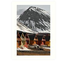 Longyearbyen houses Art Print