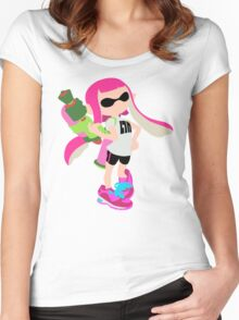 Inkling Girl (Pink) - Splatoon Women's Fitted Scoop T-Shirt